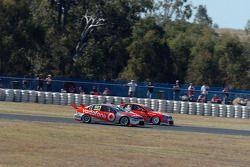 Craig Lowndes and Garth Tander battle it out