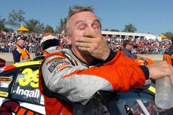 An exhausted Russell Ingall