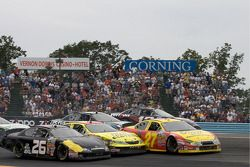 Restart: Jason Keller, Michael Annett and Michael McDowell battle hard