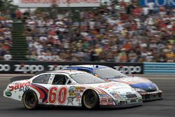 Carl Edwards and Kyle Busch battle