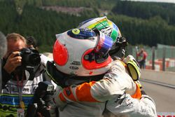 Rubens Barrichello, Brawn GP et Giancarlo Fisichella, Force India F1 Team