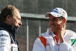 Willy Rampf, BMW-Sauber, et Adrian Sutil, Force India F1 Team