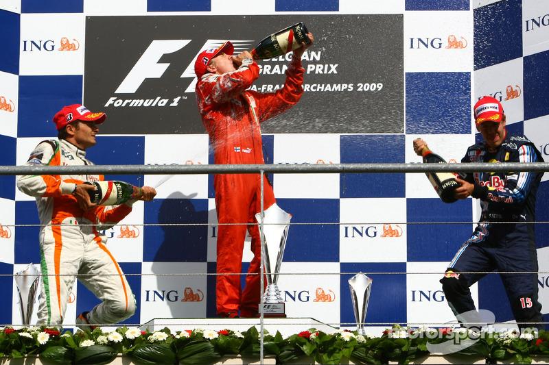 Таким получился Гран При Бельгии-2009, в котором Райкконен в последний раз победил в составе Скудерии