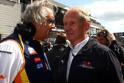 Flavio Briatore, Renault F1 Team, et Helmut Marko, Red Bull Racing,
