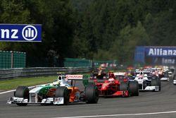 Départ de la course Giancarlo Fisichella, Force India F1 Team, Kimi Raikkonen, Scuderia Ferrari
