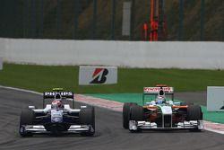 Kazuki Nakajima, Williams F1 Team and Adrian Sutil, Force India F1 Team, VJM-02