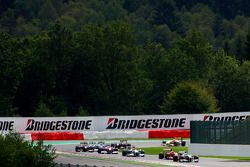 Giancarlo Fisichella, Force India F1 Team, VJM-02 en tête de la course