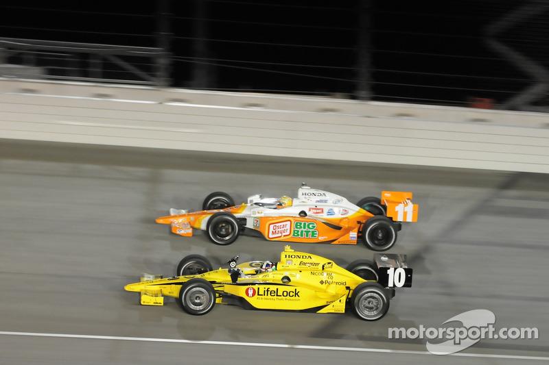 Dario Franchitti, Target Chip Ganassi Racing and Tony Kanaan, Andretti Green Racing
