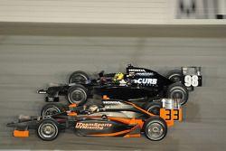 Robert Doornbos, HVM Racing, en Jacques Lazier, CURB/Agajanian/3G