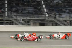 Ryan Briscoe, Team Penske; Scott Dixon, Target Chip Ganassi Racing; and Helio Castroneves, Team Pens
