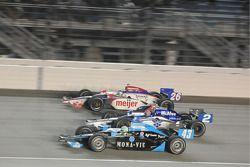 Tomas Scheckter, Dreyer & Reinbold Racing; Raphael Matos, Luzco Dragon Racing; and Marco Andretti, A