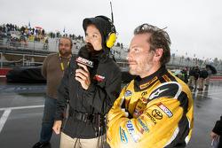 Jacques Villeneuve with ESPN's Jamie Little
