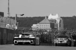 #30 Racers Edge Motorsports Mazda RX-8: Dane Cameron, Tom Sutherland, Doug Peterson, #58 Brumos Racing Porsche Riley: David Donohue, Darren Law