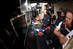 Timo Bernhard watches qualifying