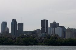 A view of downtown Montréal from Circuit Gilles-Villeneuve