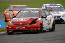 Matt Neal leads Tom Onslow-Cole and Anthony Reid