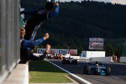 Alvaro Parente crosses the line to take victory