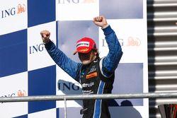 Alvaro Parente celebrates his victory on the podium