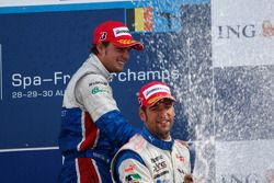 Diego Nunes and Roldan Rodriguez on the podium