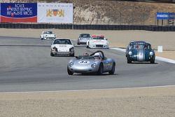 Porsche historic racing car parade