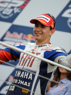 Podium: race winner Jorge Lorenzo, Fiat Yamaha Team