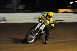 Kenny Roberts with the Yamaha TZ 750 at the Indy Dirt Track Mile