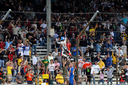 Race winner Jorge Lorenzo, Fiat Yamaha Team, celebrates by doing Spiderman