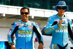 Лорис Капиросси, Rizla Suzuki MotoGP и Крис Вермёлен, Rizla Suzuki MotoGP на 100 летии трассы Индианаполис