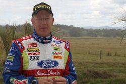 Jarmo Lehtinen au départ de son centième rallye en WRC