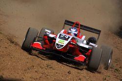 Adrien Tambay, ART Grand Prix Dallara F308 Mercedes off-track