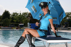 A Rizla Suzuki MotoGP girl