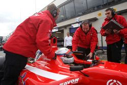 Milos Pavlovic in the pits