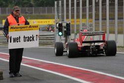 Kazim Vasiliauskas leaves the pits