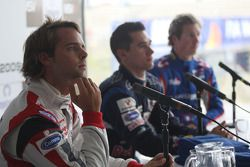 Andy Soucek, Mikhail Aleshin and Julien Jousse in the post qualifying press conference