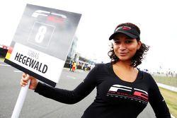 Formula Two grid girl of Tobias Hegewald
