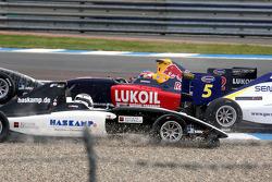 Robert Wickens et Jens Hoing involved lors de l'accident du départ