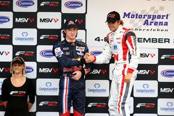 Mirko Bortolotti and race winner Andy Soucek on the podium