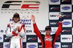 Andy Soucek and Kazim Vasiliauskas on the podium