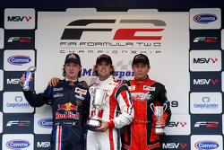 Mirko Bortolotti, Andy Soucek and Kazim Vasiliauskas on the podium