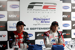 Kazim Vasiliauskas and Andy Soucek in the post race press conference