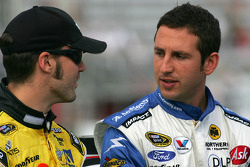 Paul Menard, Yates Racing Ford and Erik Darnell, Hall of Fame Racing Ford