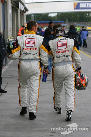 Rickard Rydell, Seat Sport, Seat Leon 2.0 TDI and Tiago Monteiro, Seat Sport, Seat Leon 2.0 TDI