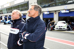 Friedhelm Nohl, BMW Motorsport and Dr. Mario Theissen, BMW Sauber F1 Team, BMW Motorsport Director