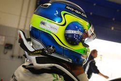 Augusto Farfus, BMW Team Germany, BMW 320si con una calcomanía de Ayrton Senna en su casco