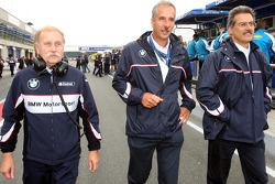 Friedhelm Nohl, BMW Motorsport with Dr. Klaus Draeger and Dr. Mario Theissen, BMW Sauber F1 Team, BM