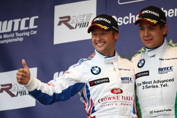 Andy Priaulx, BMW Team UK, BMW 320si 2nd place and Augusto Farfus, BMW Team Germany, BMW 320si 1st