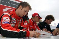 Henri Karjalainen during the F2 driver autograph session