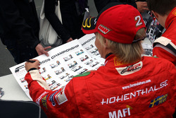 Sebastian Hohenthal during the F2 driver autograph session