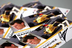 Signed German Sanchez autograph cards