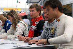 Kazim Vasiliauskas during the F2 driver autograph session